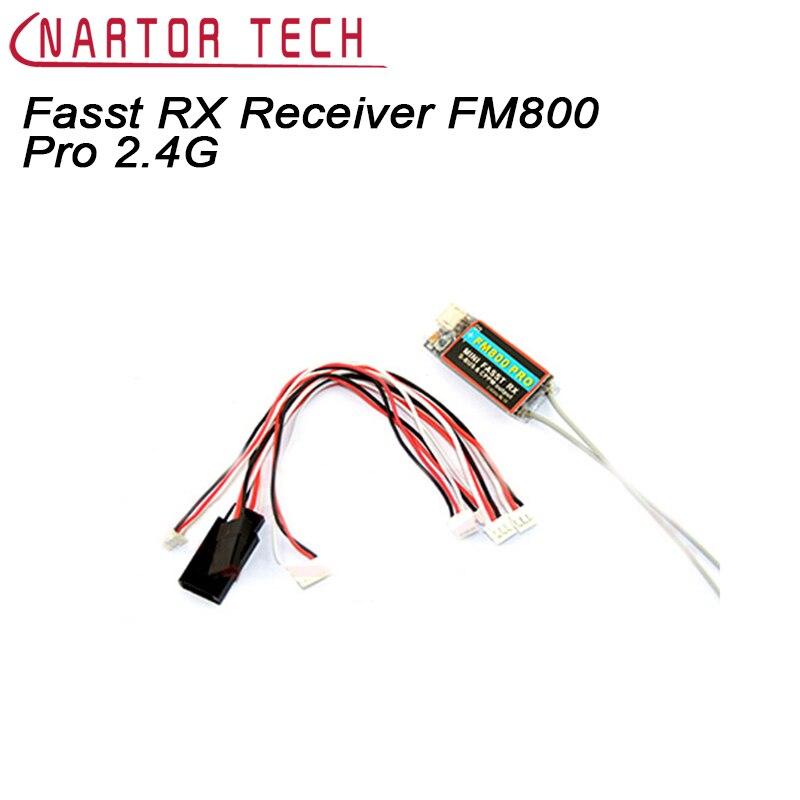Nartor Mini Fasst RX Récepteur FM800 Pro 2.4G Soutien SBUS CPPM Compatible pour Futaba RC CC3D Naze32 Course F3 Quadcopter