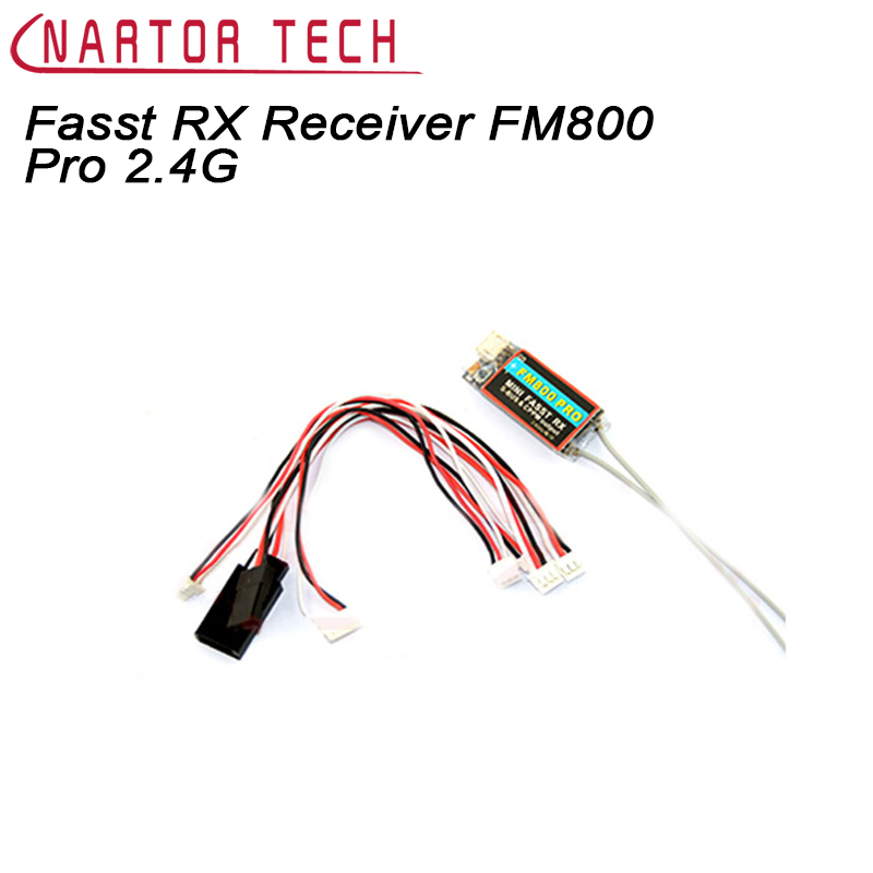 Nartor Mini Fasst RX Receiver FM800 Pro 2.4G Support SBUS CPPM Compatible for Futaba RC CC3D Naze32 F3 Racing Quadcopter frsky tfr6 tfr6 a 7ch 2 4g receiver compatible with futaba fasst frsky tfr6 t8fg 10cg 14sg tf module