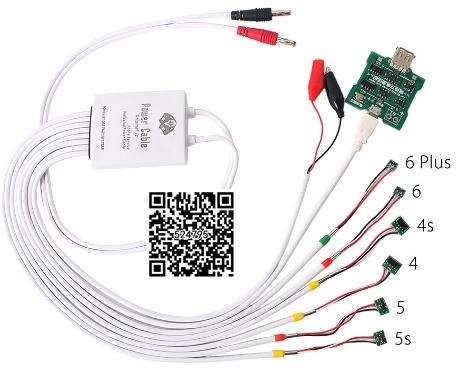 Prueba de Corriente de Alimentación de múltiples funciones Profesional Cable de Activación de la Batería la junta de carga para iphone 6/plus 5s 5 4S 4