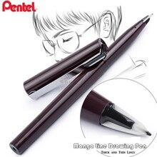 1pc Pentel Arts Stylo Sketch Pen Line Drawing Detail Marker Pen for Manga,Architecture Black,  (JM20-AE)