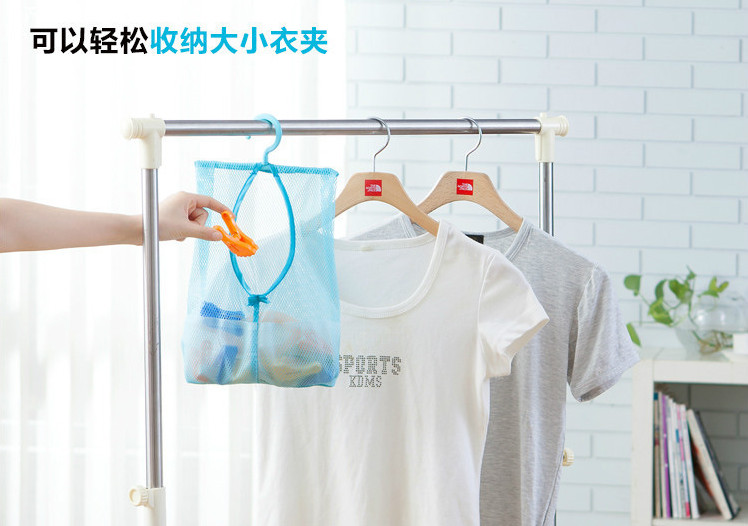 Hanging Mesh Storage Bag Clothes Toy Organizer Laundry Hook Underwear Kitchen Bathroom Indoor Outdoor Dry Practical Pouch garment bag