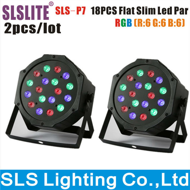 2pcslot wholesale price slim led flat par 64 light 18pcs 1w led christmas lights