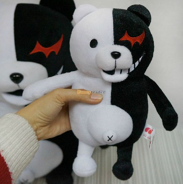 Fancytrader 28\'\' 70cm 2 pcs Giant Stuffed Cute Plush Monokuma and Monomi, Free Shipping FT50353 (5)