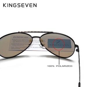 Image 5 - نظارات شمسية KINGSEVEN طراز 2019 مستقطبة بإطار من سبيكة الطيران بتصميم جديد للرجال طراز UV400