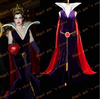 free shipping custom made Snow White Empress Dresses and Cloak Cosplay Costumes for Halloween
