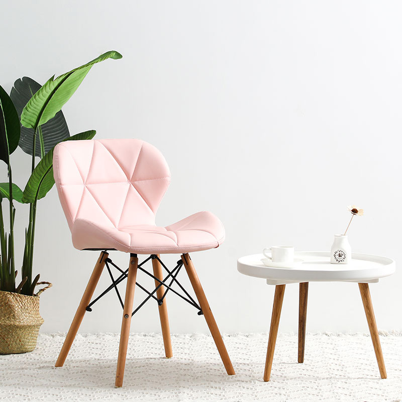 Modern Minimalist Desk Computer Chair Home Restaurant Dining Stool Solid Wood Nordic Sofa Backrest Makeup Beach