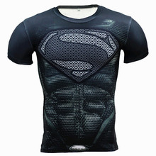 New Fitness Compression Shirt Men Anime Superhero Punisher Skull Captain Americ 3D T Shirt Bodybuilding Crossfit tshirt(China)