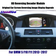 Liandlee Decoder Player For BMW 5 Series F10 F11 2013~2017 Rear Reverse Parking Camera Image Car Screen Upgrade Display Update