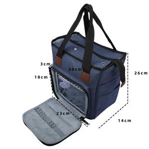 Image 2 - Portable Knitting Bag Yarn Storage Bag Tote for Wool Crochet Hooks Knitting Needles Sewing Supplies Set DIY Household Organizer