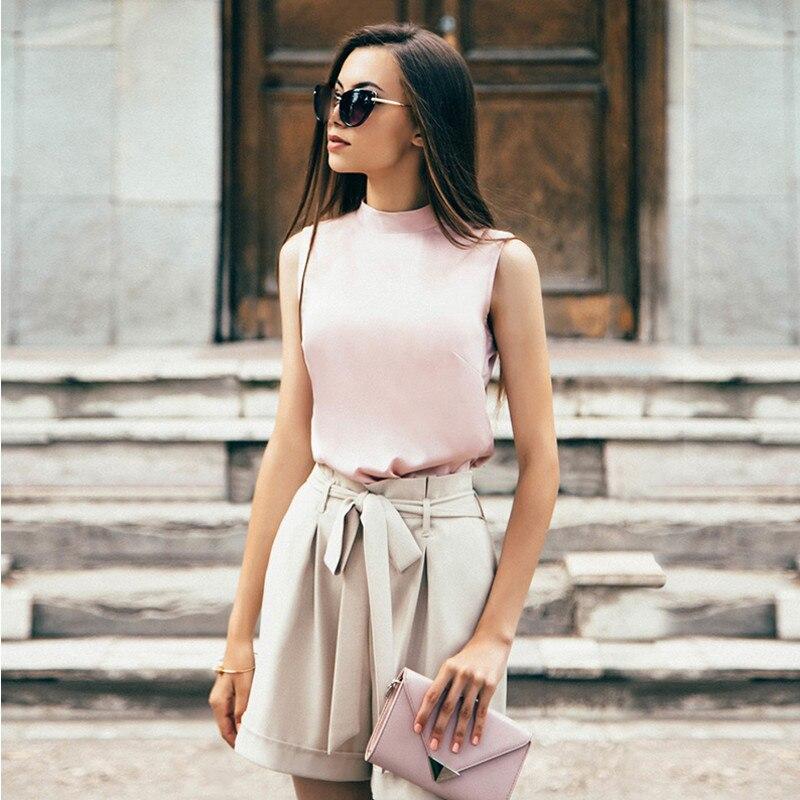 High Waist Belt Solid Short   Pants   For Women Solid Wide Leg Pleated Ruffles Slim   Pants   &   Capris   Loose Clothes Streetwear Apparel