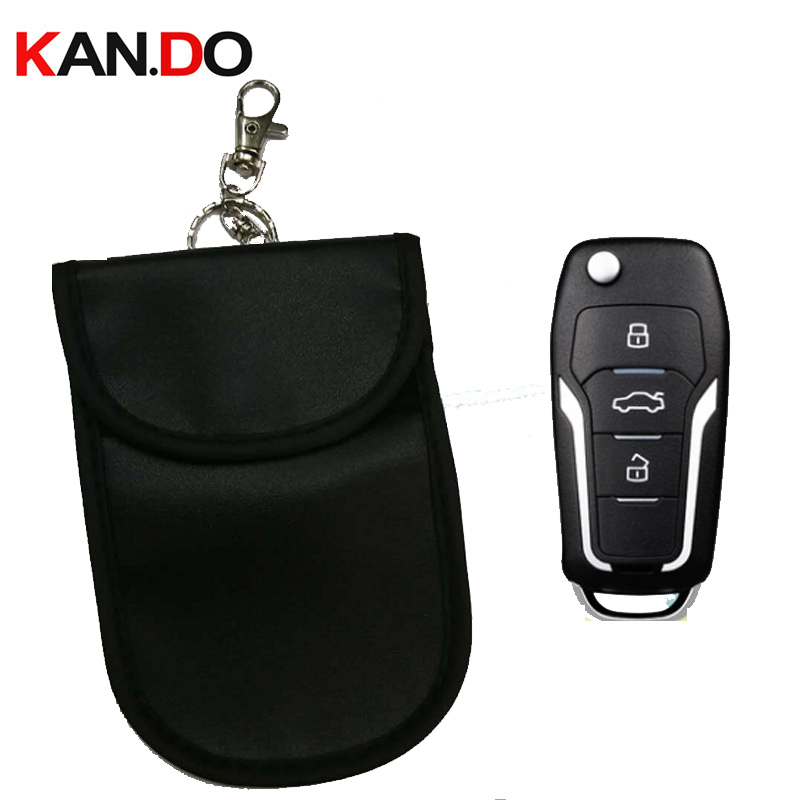 Cheap Car Key Sensor Jammer Bag Card Anti-Scan Sleeve Bag Signal Blocker Bank Card Protection Jammer Remote Car Key Jammer Bag