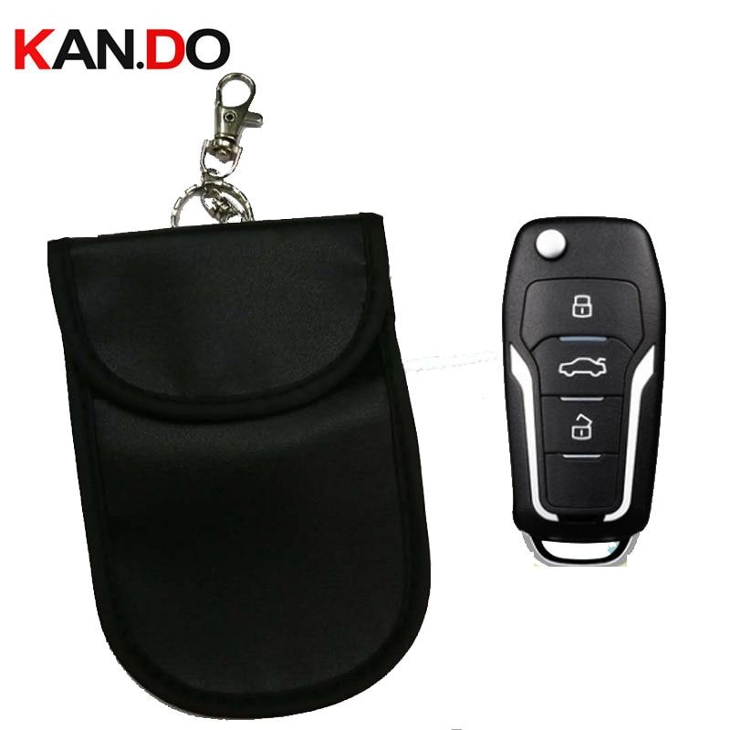 Cheap Car Key Sensor Jammer Bag Card Anti-Scan Sleeve Bag Signal Blocker Bank Card Protection Jammer Remote Car Key Jammer Bag