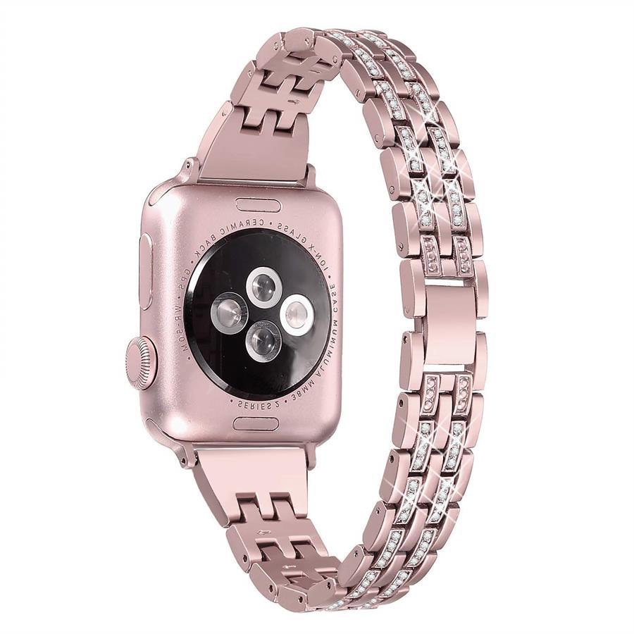 Serie 1 Bozhuo Bling Bands Uhr Band 38mm 40mm Für Apple Serie 3 Serie 2 Diamant Strass Metall Schmuck Armband Strap GroßE Vielfalt
