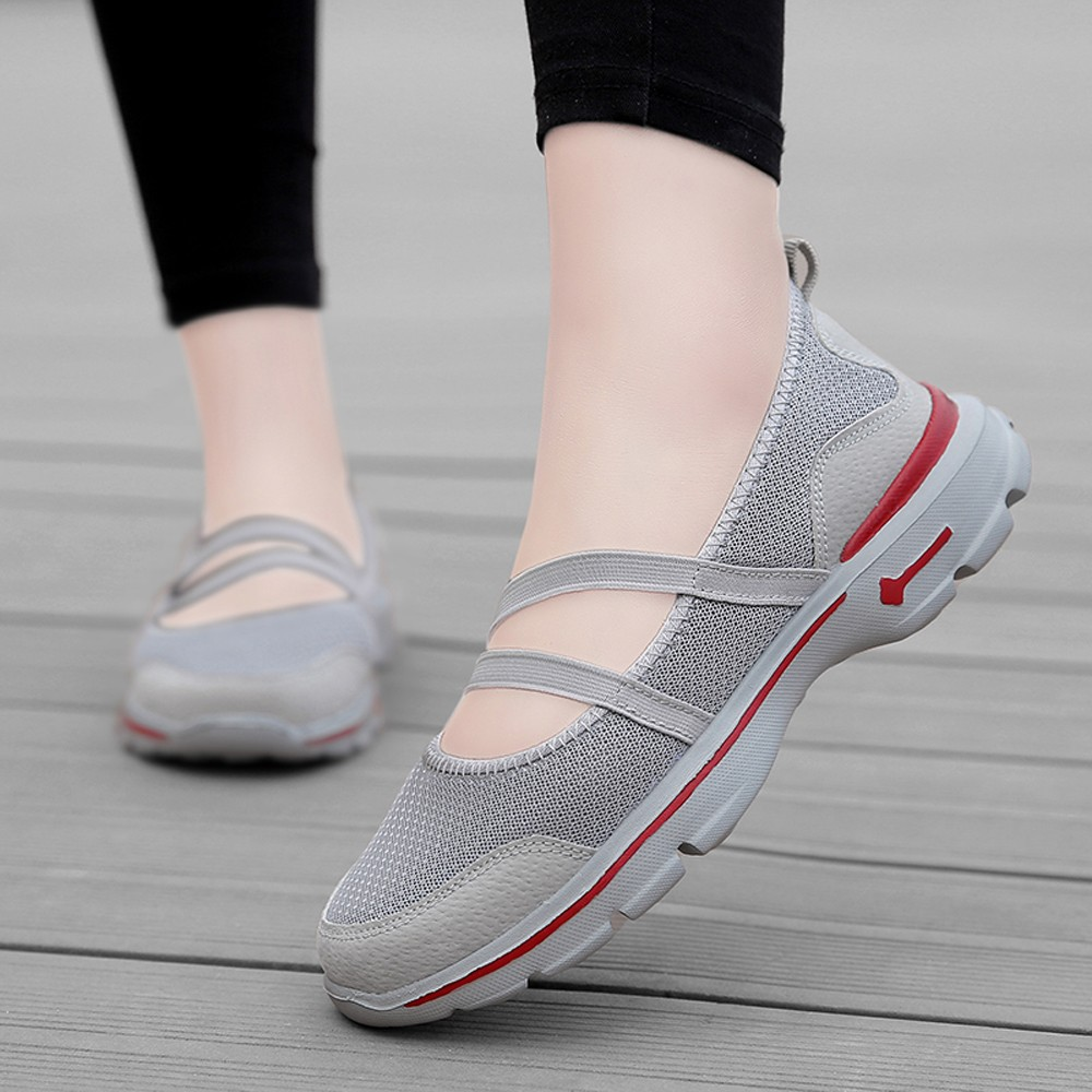 Fashion Women Flats Shoes platform sneakers casual shoes slip on flats heels Mesh Breathable
