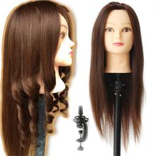 Brown Training Head for Hairdressers Hair Cutting Products for Hair Salon Model Mannequin Head Hair Hairdressing