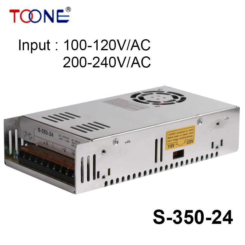 ФОТО S-350-24 Output 24VDC 14.6A 350W Regulated Switching Power Supply