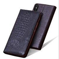 Nefeilike Luxury 100% Genuine Xiaomi MI Max 3 Leather Case Cover Flip Book Leather Case For Xiaomi MI MAX3 Stand Hole