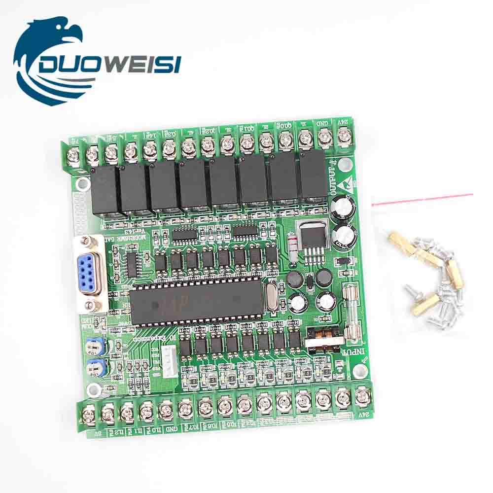 S7 200 PLC industrial control panel 16MR 5AD with analog online monitoring download S7 200