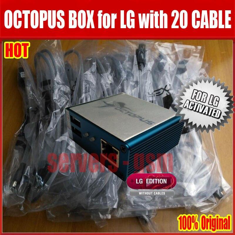 100% Original poulpe boîte pour LG réparation IMEI déverrouiller flash rom le meilleur instrument du monde avec 20 câbles