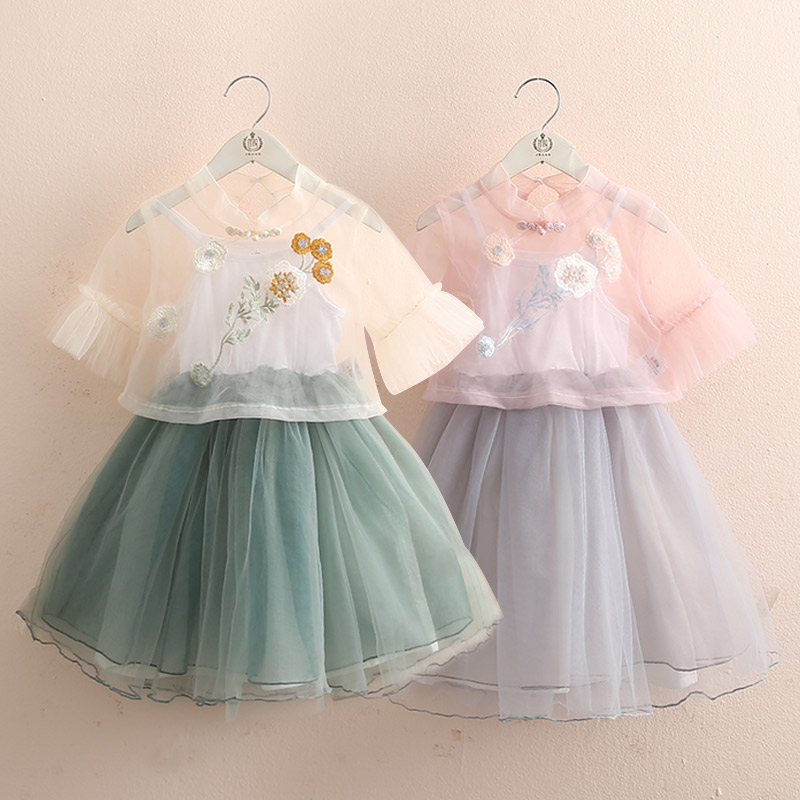 Baby Suit 2019 Summer Dress New Girls and Childrens Vest Skirt Coat Short Sleeve A-line  Fashion  Teenage Girls ClothingBaby Suit 2019 Summer Dress New Girls and Childrens Vest Skirt Coat Short Sleeve A-line  Fashion  Teenage Girls Clothing