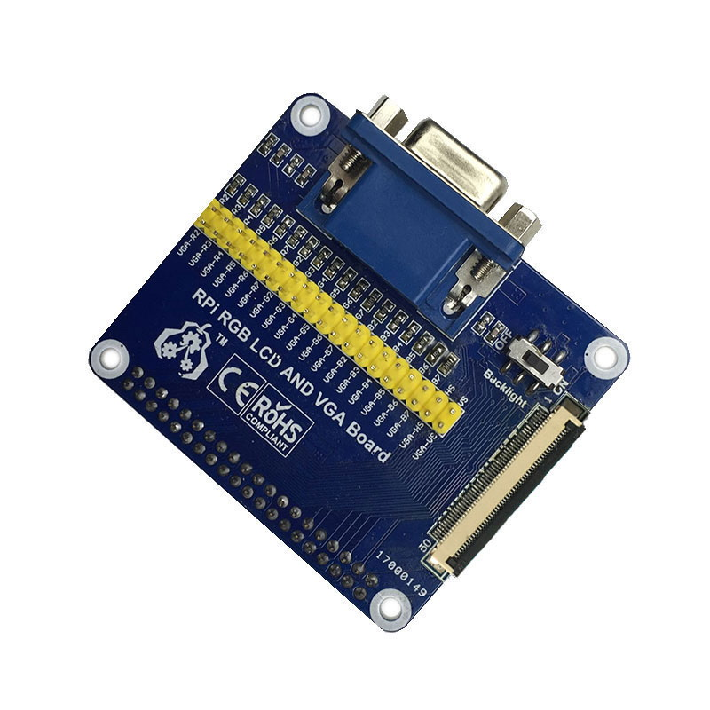 US $29 12 9% OFF|Raspberry Pi 7 inch LCD 7inch 1024x600 IPS display and VGA  Connector DPI driver-in Demo Board from Computer & Office on