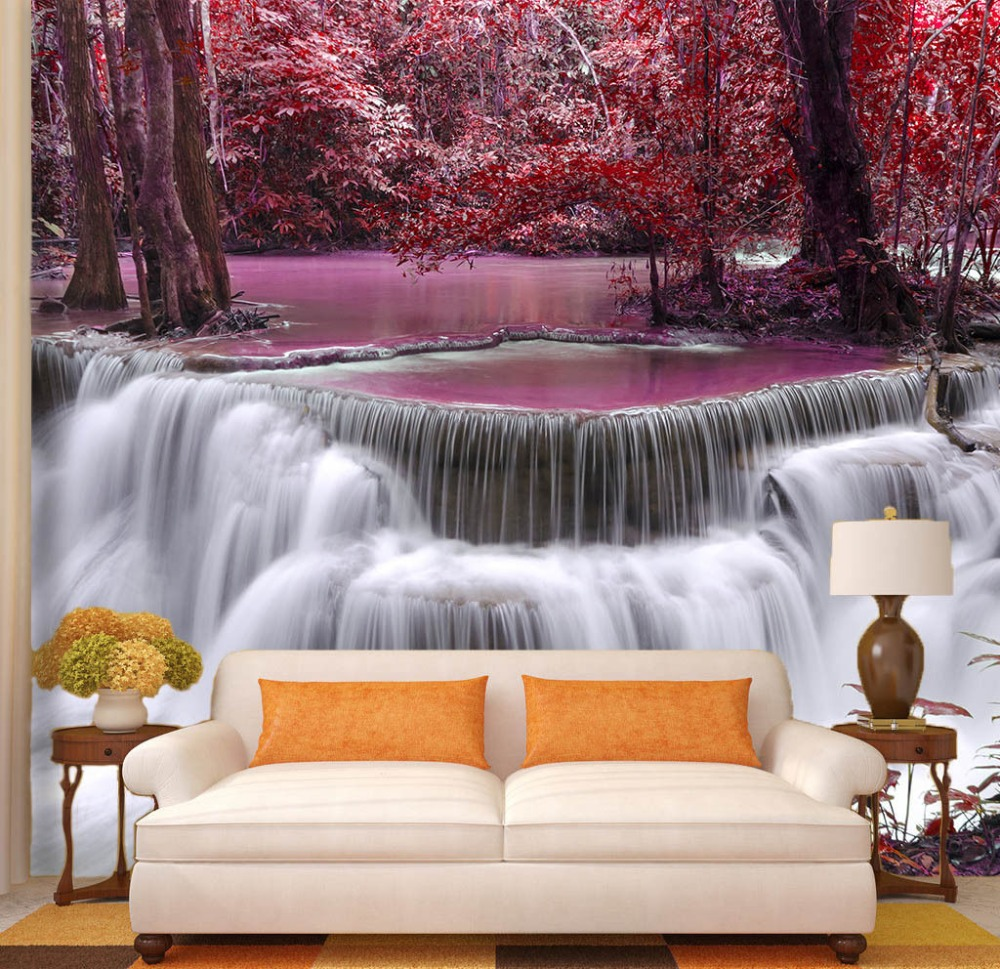 [Self-Adhesive] 3D Mangrove Forest River Waterfall 190 Wall Paper Mural Wall Print Decal Wall Murals