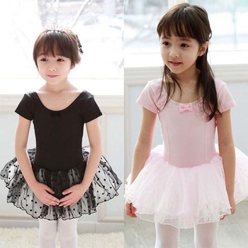 цены Girl Ballet Dress Children Tutu Dance Costume Petal Sleeve Girls Lace Dresses Floral Kids Girl Ballerina Dress