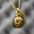 Moda banhado a ouro corações colar choker pingentes hip hop do punk casal moda jóias declaração colar mulheres homens