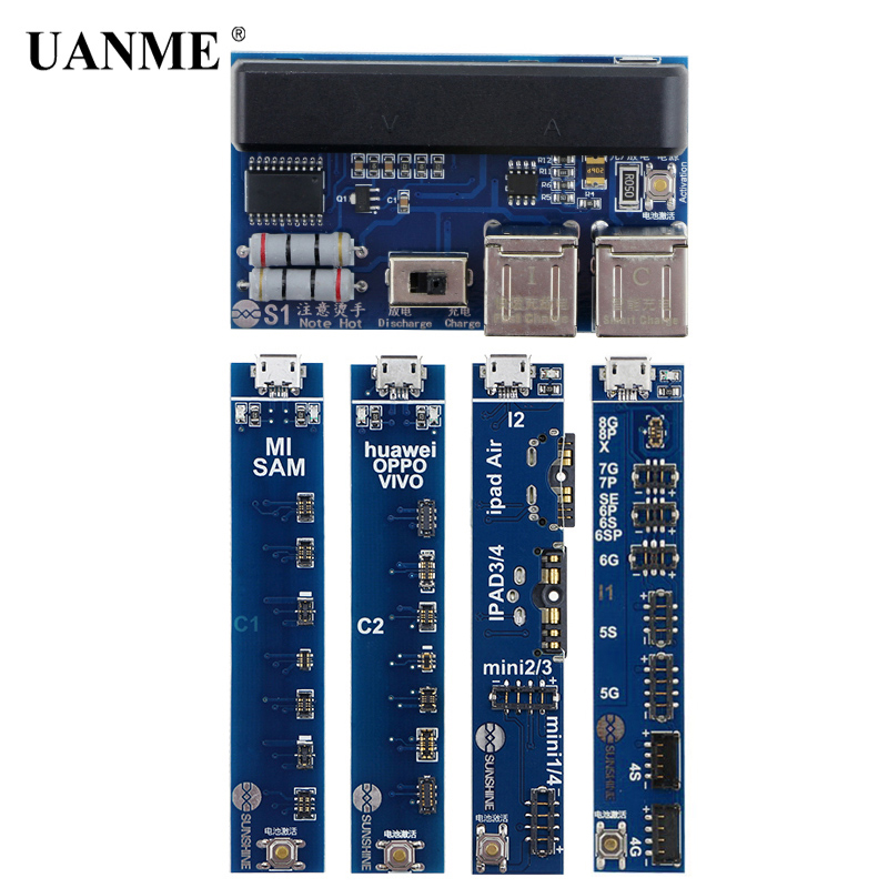 UANME Universal Mobile Phone Charging Activation Board for Iphone 4s-8X Battery Cable Test Activation for Ipad Android SS-909 стоимость