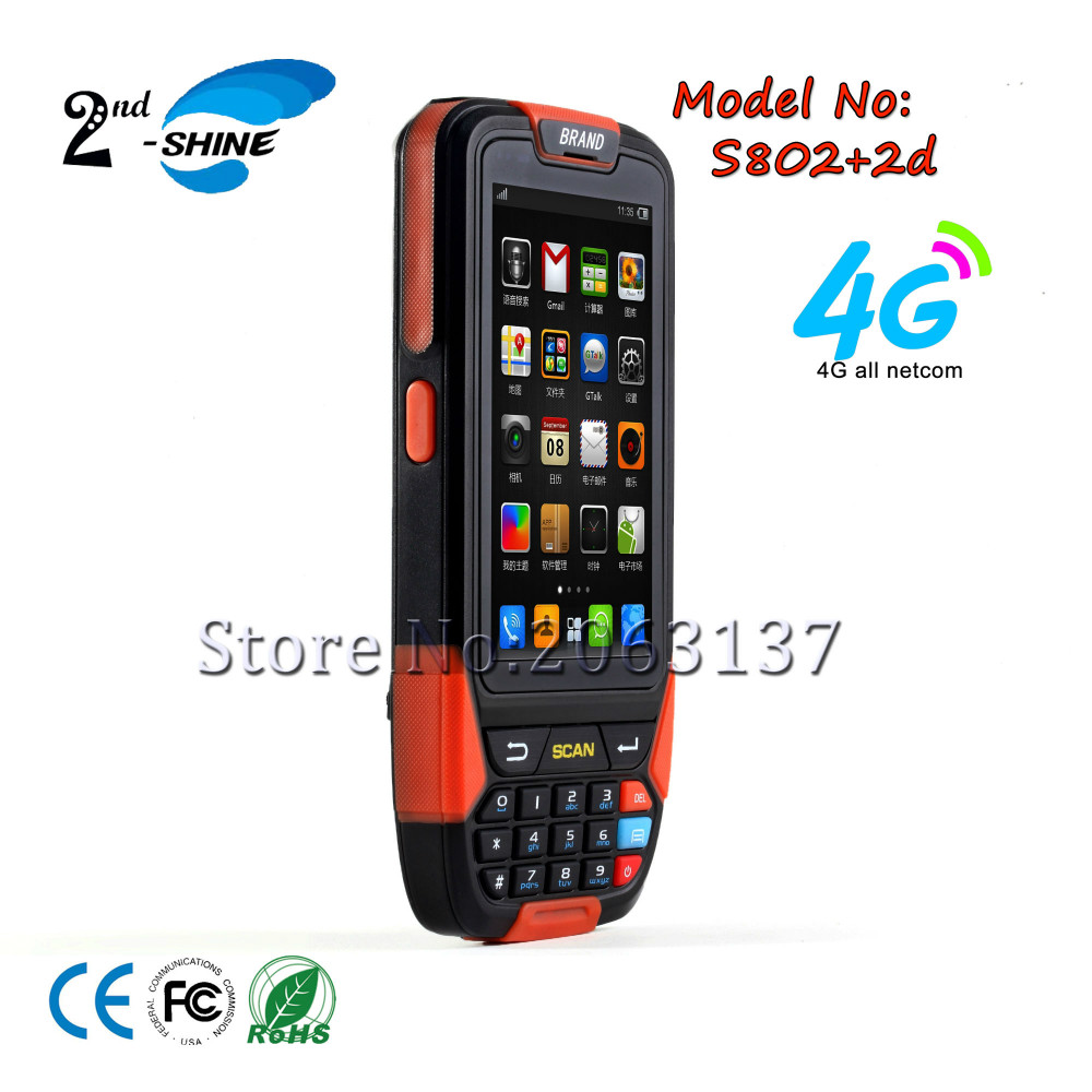 Android PDA 4G Network Handheld Rugged Smartphone Portable 1D Barcode Scanner
