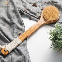Aimjerry натуральная щетина длинные противоскользящие ручки деревянный Средства ухода за кожей Maasage Здоровье и гигиена Для ванной Кисточки для ванны скраб для тела
