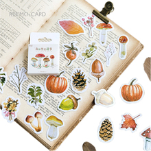 46pcs/set Forest Squirrel pinecone Stickers Kawaii Planner Decoration Scrapbooking Sticky School Supplies