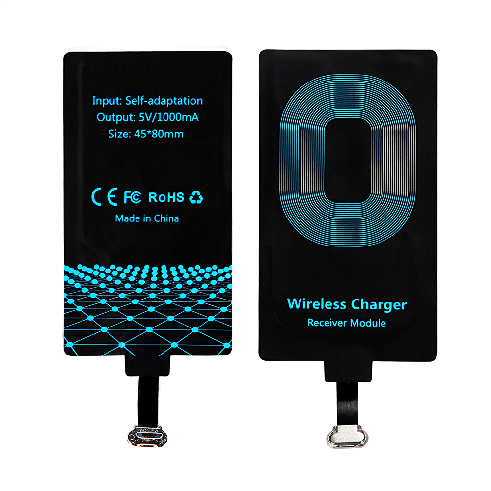 Qi Fast Charging Wireless Charger Receiver for Cargador Inalambrico Iphone 6 6s 7 Plus Adapter Receiver Pad Coil Micro USB
