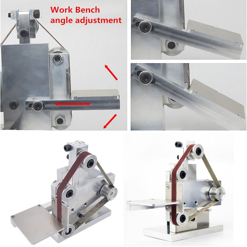 Us Plug Diy Mini Belt Sander Bench Mount Grinder Polishing Grinding Machine Buffer Electric Angle Grinder 175x110x140Mm in Sanders from Tools