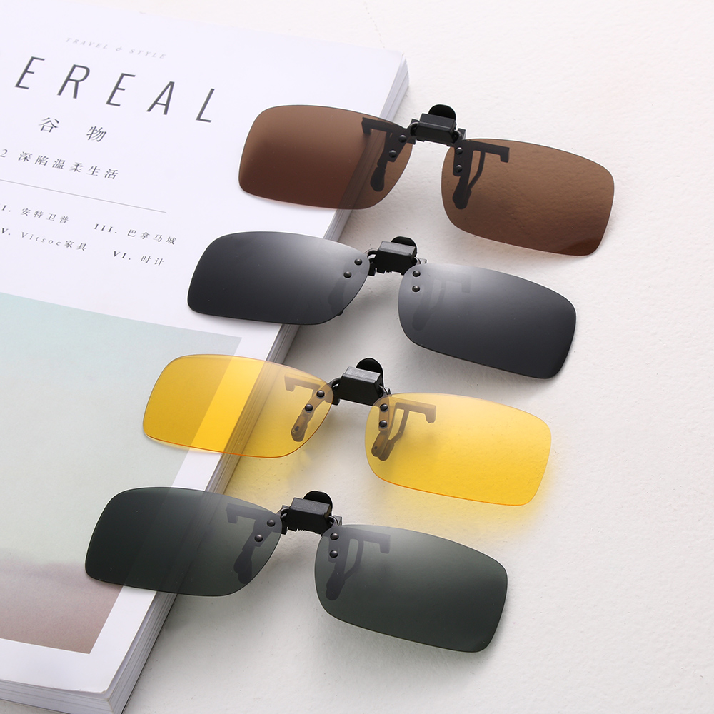 Fashion Polarized Lens UV400 Clip-on Sunglasses Driving Glasses Day Night Vision
