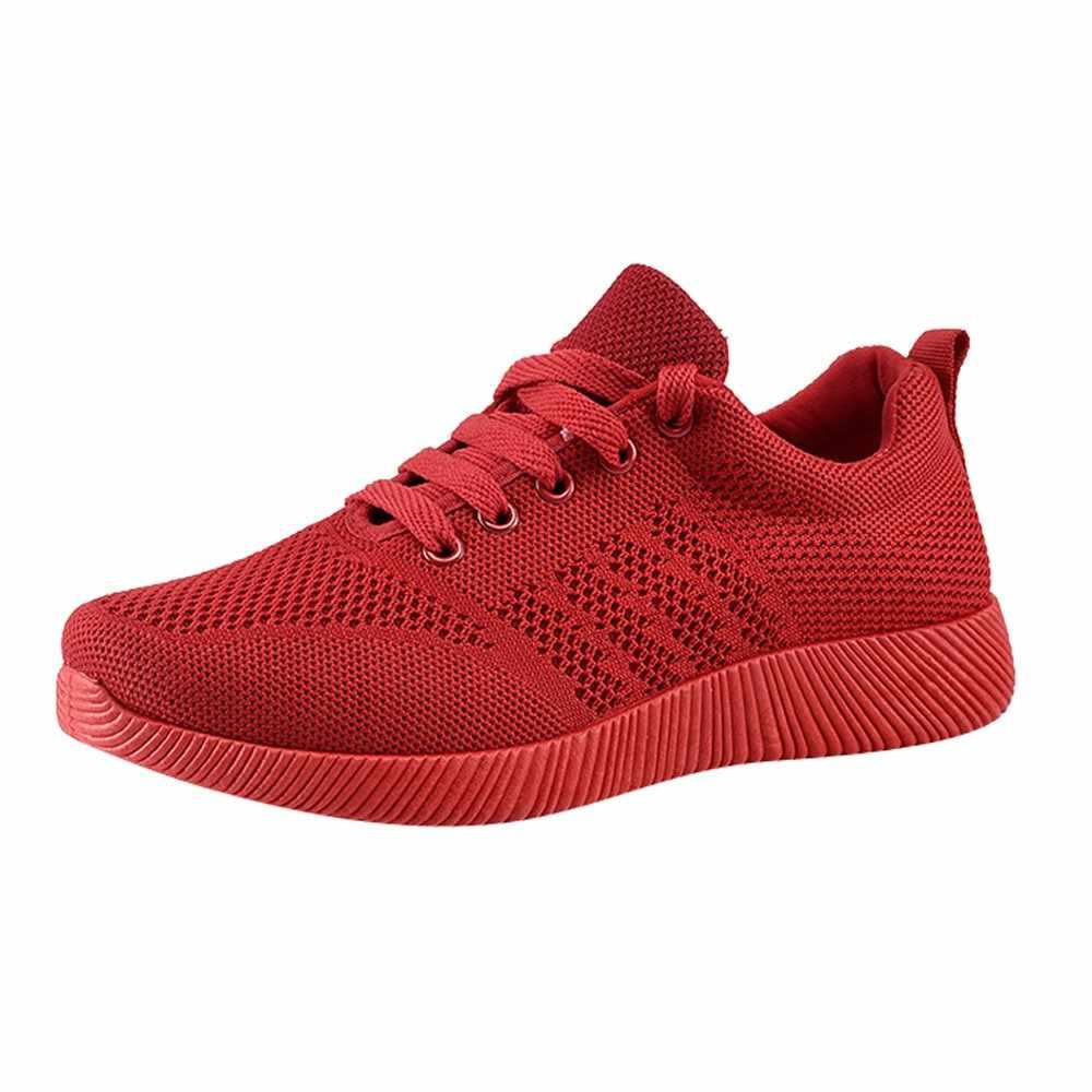 SAGACE vrouwen Schoenen Vliegende Geweven Casual Schoenen Snoep Kleur Student Loopschoenen Vrouwen Sneakers Wedge Platform Vrouw