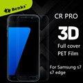 Benks 3d curva completa cobertura suave pet protector de pantalla de cine para samsung galaxy s7/s7 edge (Vidrio no Templado) con el embalaje