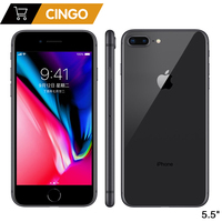 Original apple iphone 8 plus hexa núcleo ios 3 gb ram 64-256 gb rom 5.5 polegada 12mp impressão digital 2691 mah lte telefone móvel