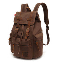 2015 New Casual Canvas Men Backpack Retro Vintage Male Students School Bags Outdoor Men Travel Bags