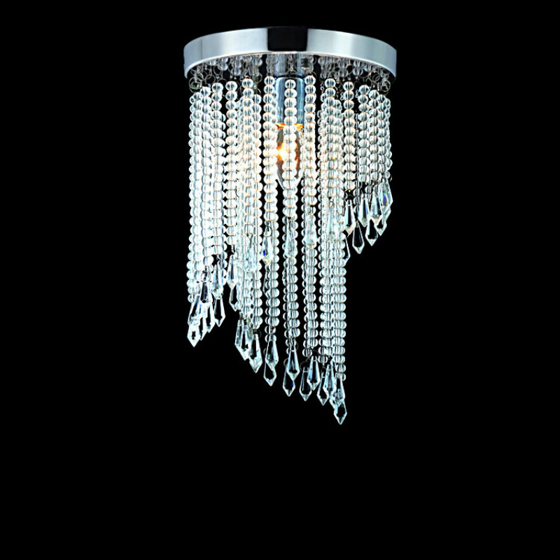 100% Quality Modern Fashion Luxurious K9 Crystal Led E14 Ceiling Light For Living Room Aisle Entrance Corridor Dia 20cm 1879 modern fashion luxurious rectangle k9 crystal led e14 e12 6 heads pendant light for living room dining room bar deco 2239
