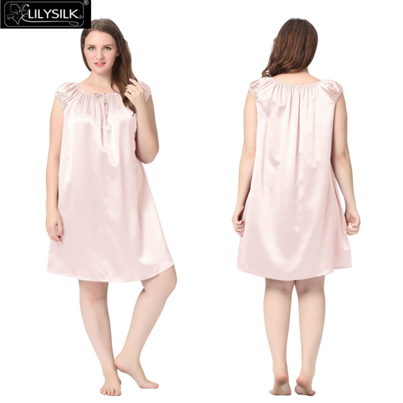 1000-light-pink-22-momme-mid-length-silk-nightgown-with-tied-bust-plus-size-01