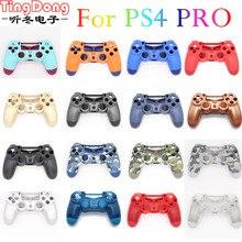 PS4 Pro 4.0 Controller di Caso di Fronte Retro Duro Superiore Custodia Borsette Copertura Per Playstation 4 Pro V2 Dualshock 4 Pro JDS 040 JDM 040