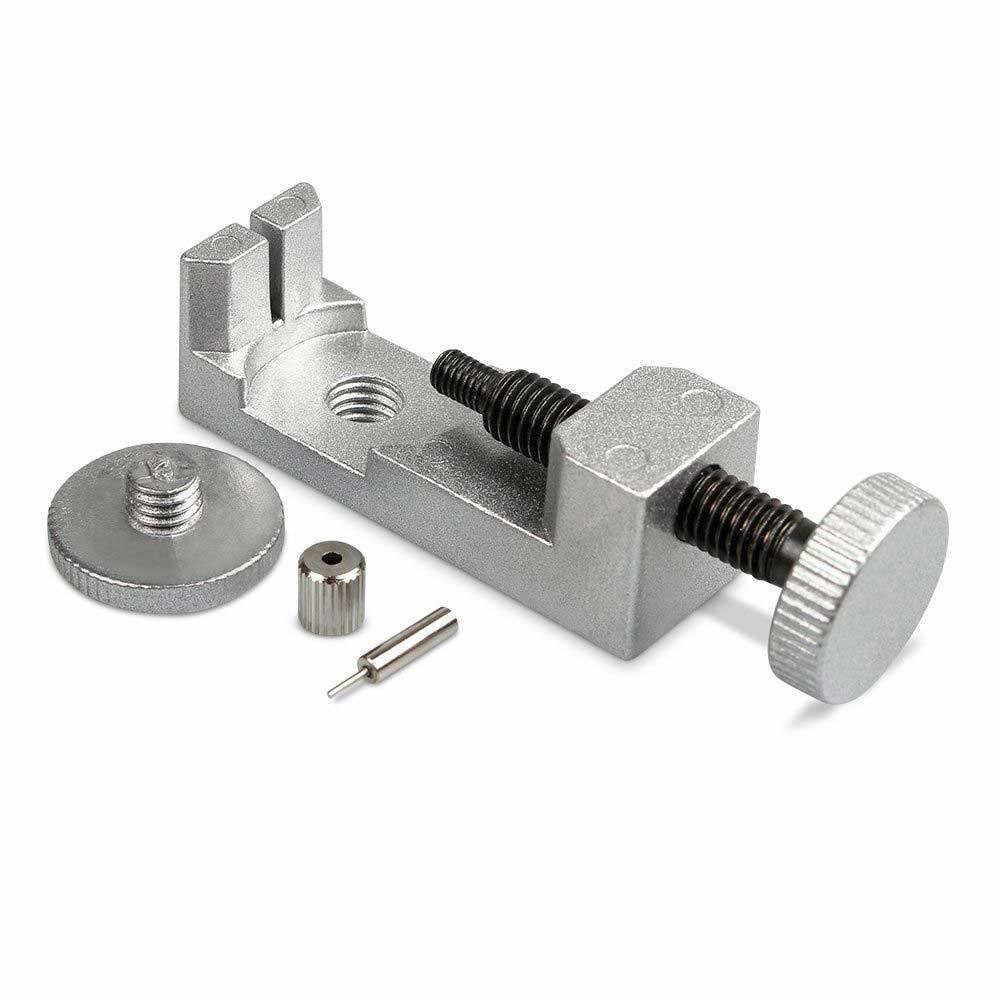 Ferramentas de relógio metal relógio banda & pulseira link removedor + barra mola ferramenta reparo com pinos extra samir aletleri