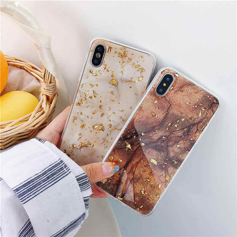 Goudfolie Bling Marble Phone Case Voor OPPO A37 A39 A57 A59 A73 F5 A83 A79 A5 A3 F7 F9 r9 R9S R11 R11S PLUS R17 PRO Glitter Cases