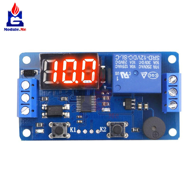 US $2 2 10% OFF DC 12V Timer Cycle Relay Digital LED Delay Timer Relay  Board Control Switch Trigger Programmable Module for Car Auto with  Buzzer-in