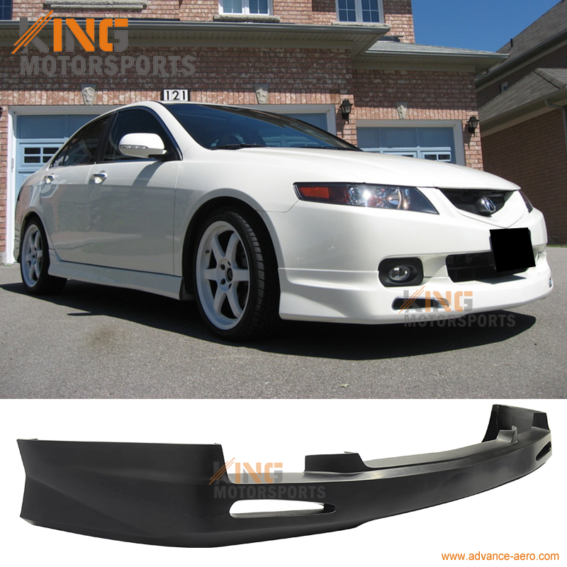 For 2004 2005 Acura TSX Sedan JDM Front Bumper Lip Poly