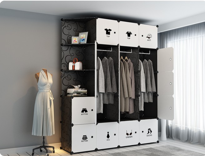 Diy Simple Wardrobe Assembly Cabinet Plastic Wardrobe Bedroom Locker Wardrobe Storage Box Clothes Cabinet Plastic Cloth Wardrobe Wardrobes Aliexpress
