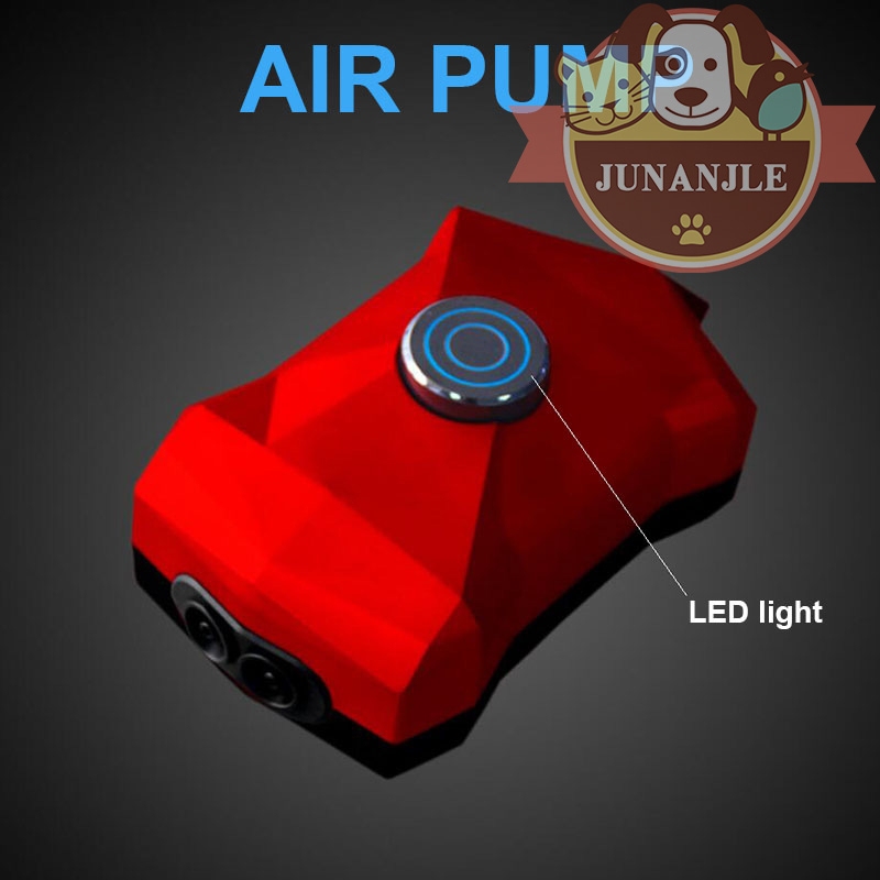 1pcs Cool Adjustable Mini Fish Tank Air Pump With Led Light Compressor 220v Aquarium Fish Tank Oxygen Pump Aquarium Accessories