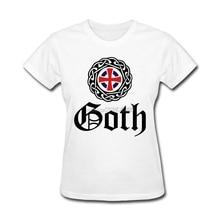 T-Shirt Womens Gothic V020 O Neck New Style Tee Shirts Women Cotton Humor Make A Tshirt