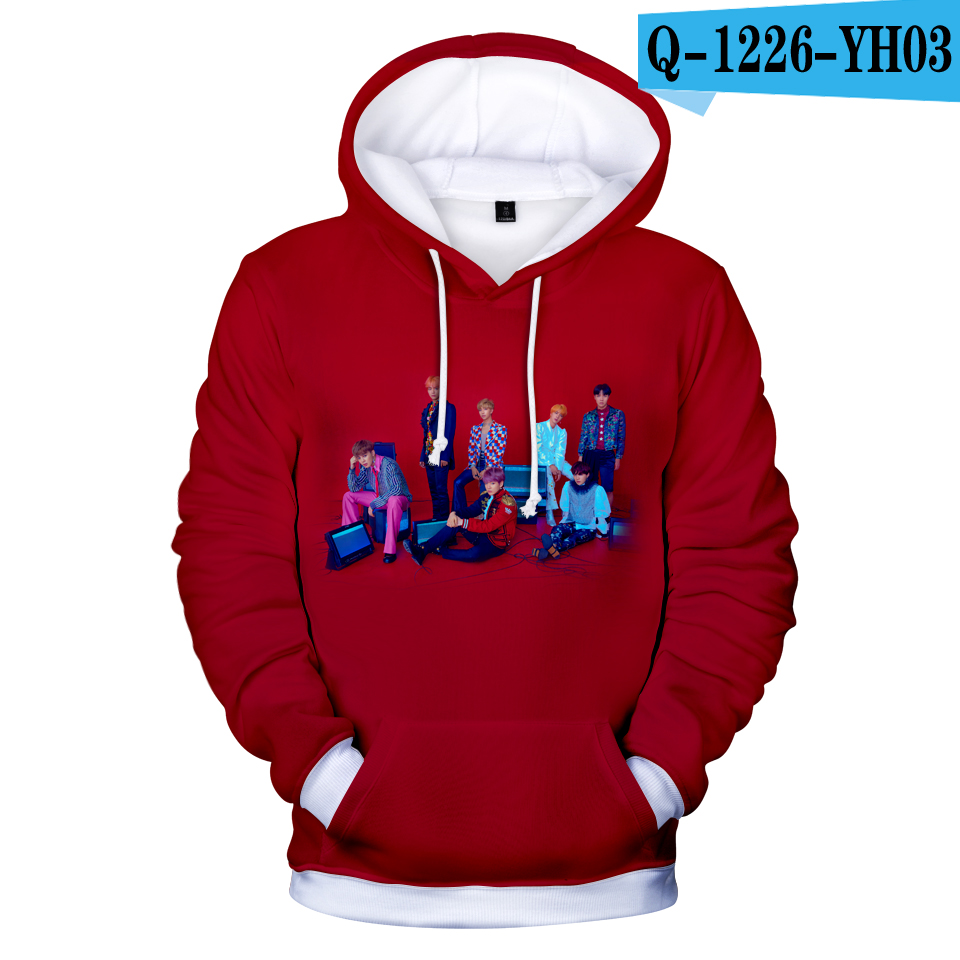 d4273337f Frdum Tommy BTS Love Yourself Answer 3D Hoodies Hip Hop Women Kpop Idol  Fashion Hot Selling Bangtan Boys Women Fans-in Hoodies & Sweatshirts from  Women's ...
